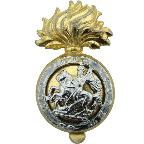 Northumberland Fusiliers Regiment Staybrite Anodised Cap Badge - Staybright