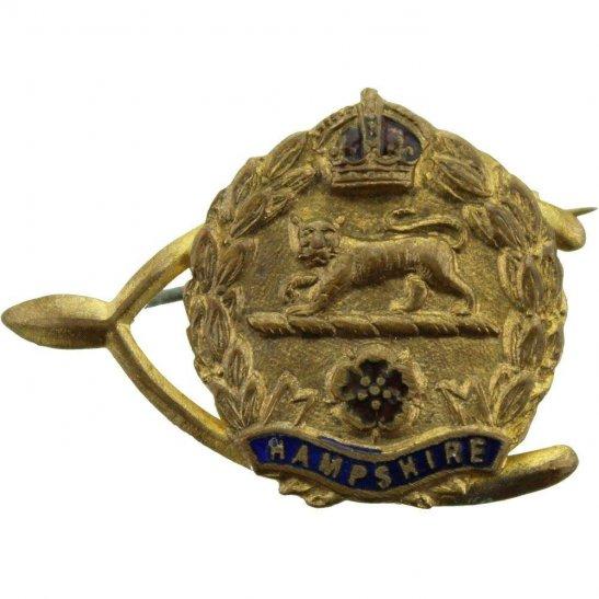 Hampshire Regiment Hampshire Regiment Wishbone Sweetheart Brooch