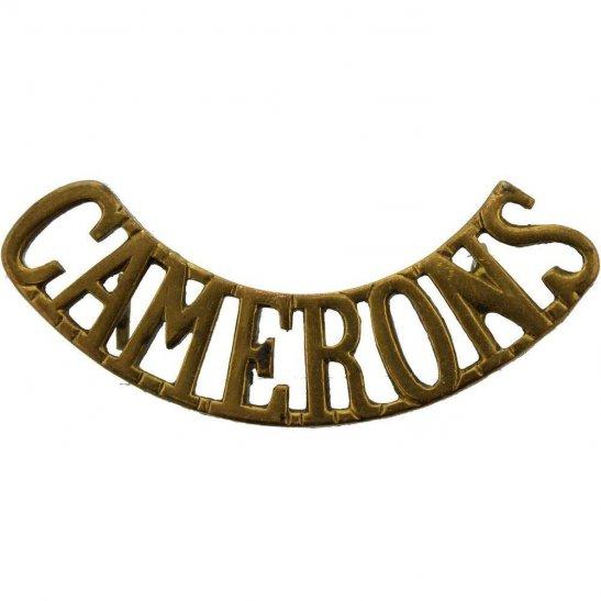 Cameron Highlanders WW2 Queens Own Cameron Highlanders Regiment Shoulder Title