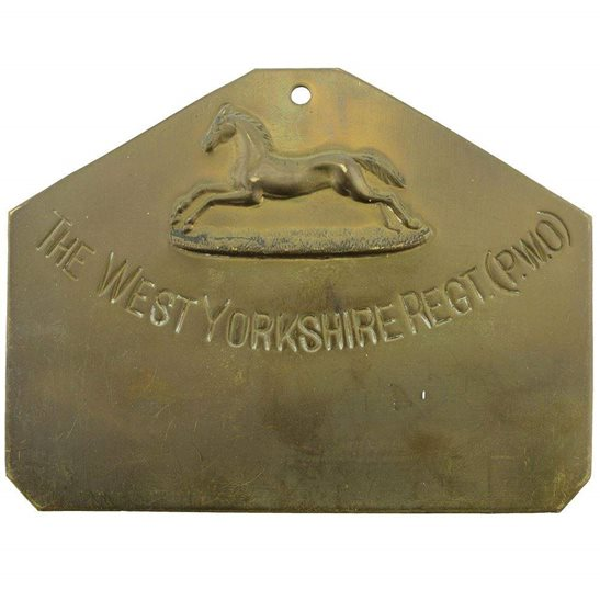 West Yorkshire West Yorkshire Regiment Brass Bed / Duty Foot Plate