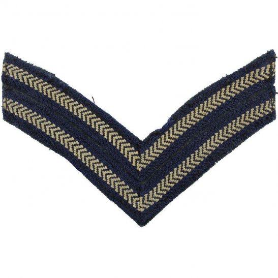 Royal Air Force RAF WW2 Royal Air Force RAF Corporals Cloth Chevron Insignia Rank Stripes