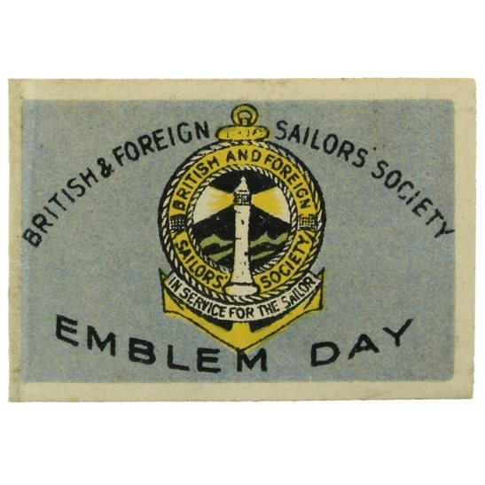 additional image for WW1 British Sailors Society LEST WE FORGET 1914-1918 Flag Day Fundraising Pin Badge