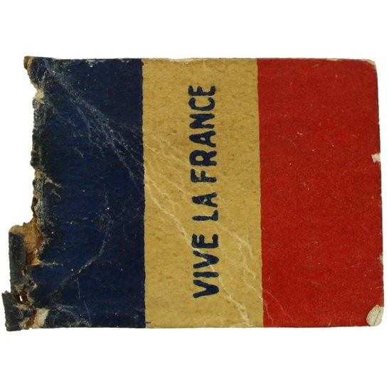 WW1 French War Effort Vive La France Flag Day Fundraising Pin Badge