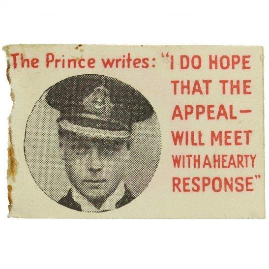 WW1 British & Foreign Sailors Society Merchant Navy Flag Day Fundraising Pin Badge