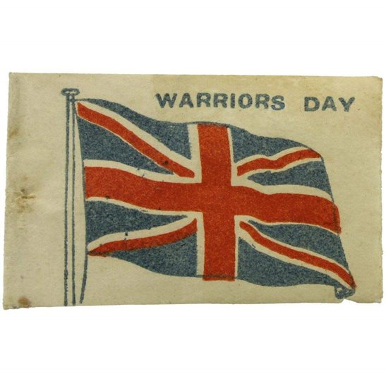 WW1 British Soldiers WARRIORS DAY Union Jack Flag Day Fundraising Pin Badge