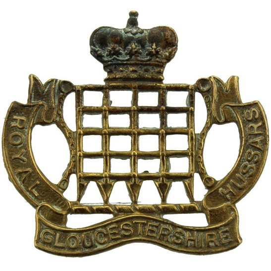 Royal Gloucestershire Hussars WW1 Royal Gloucestershire Hussars Regiment Collar Badge