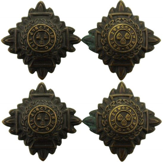 WW1 British Army Officers Insignia Pips - Rank of Lieutenant Set PAIR - 26mm