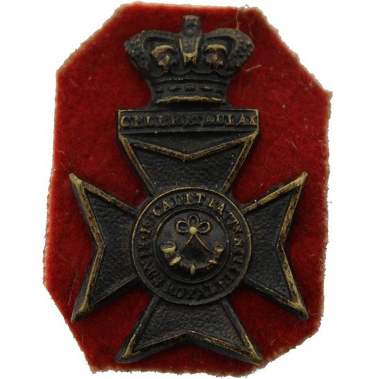 Kings Royal Rifle Corps KRRC VICTORIAN Kings Royal Rifle Corps KRRC Regiment (King's) Collar Badge