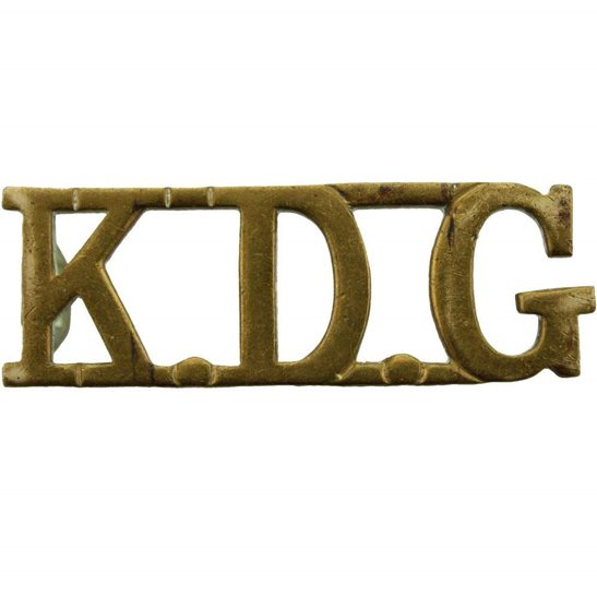 1st Kings Dragoon Guards 1st Kings Dragoon Guards Regiment KDG (King's) Shoulder Title