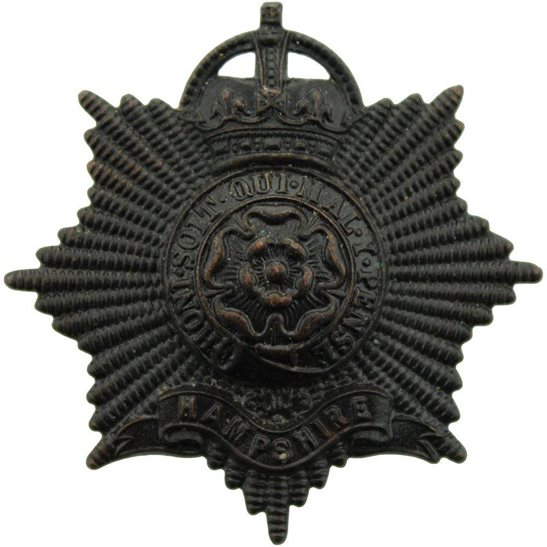 Hampshire Regiment Hampshire Regiment OFFICERS Bronze Cap Badge