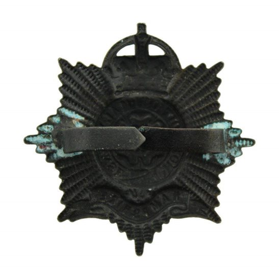 additional image for Hampshire Regiment OFFICERS Bronze Cap Badge