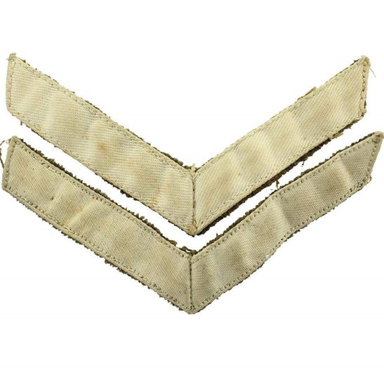 WW2 British Army Lance Corporals Cloth Chevron Insignia Rank Stripes PAIR