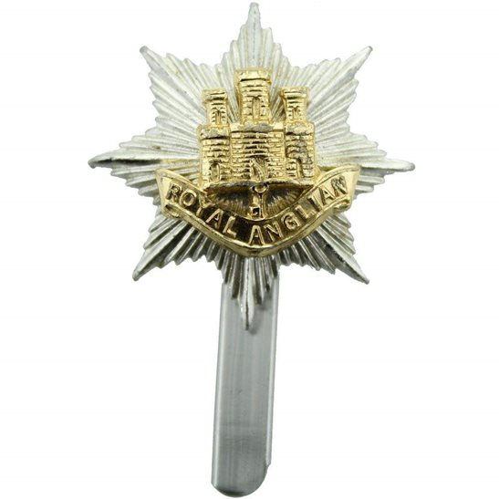 Royal Anglian Regiment Staybrite Anodised Cap Badge - Staybright