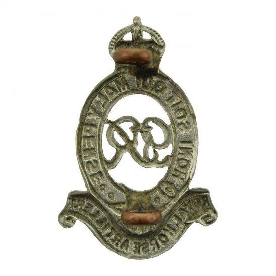 additional image for WW2 Royal Horse Artillery Regiment (George VI) RHA Cap Badge