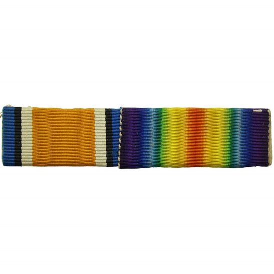 WW1 Pair (British War & Victory Medal) Ribbon Bar - SEW ON STYLE
