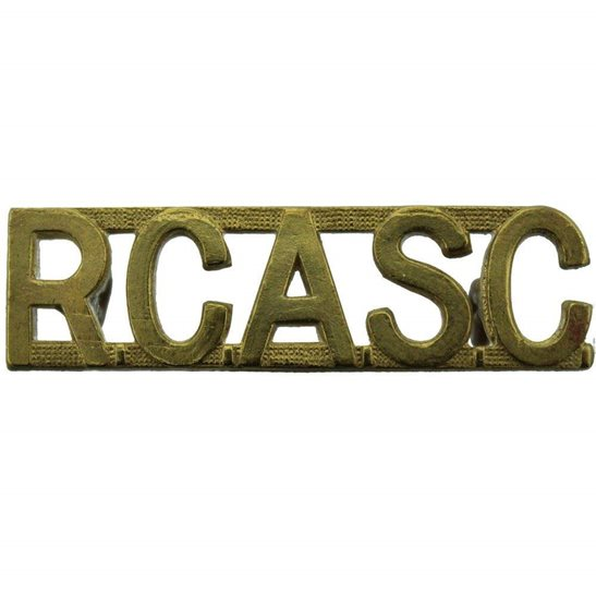 WW2 Canadian Army WW2 Royal Canadian Army Service Corps RCASC Canada Shoulder Title