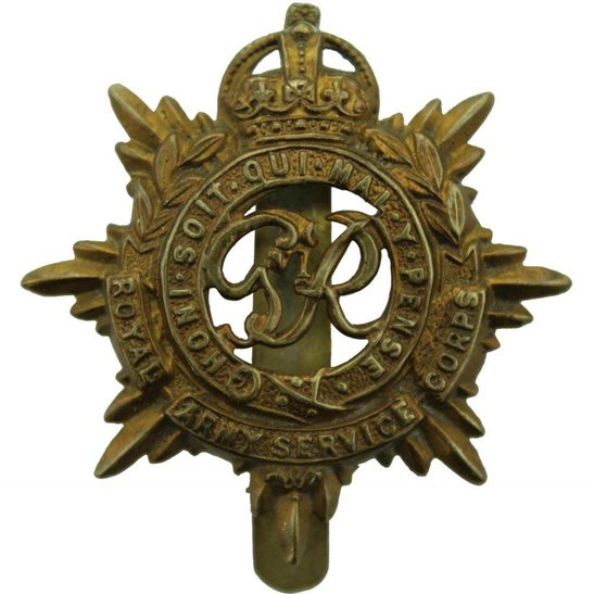 Royal Army Service Corps RASC WW2 Royal Army Service Corps (George VI) RASC Cap Badge
