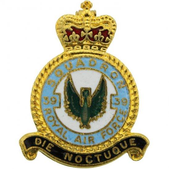 RAF Squadrons 39 Squadron Royal Air Force RAF Lapel Badge