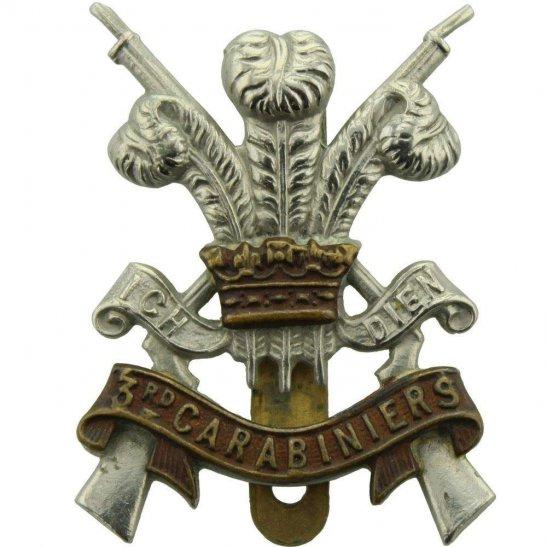 3rd Carabiniers WW2 3rd Carabiniers (Prince of Wales's Dragoon Guards) Regiment Cap Badge