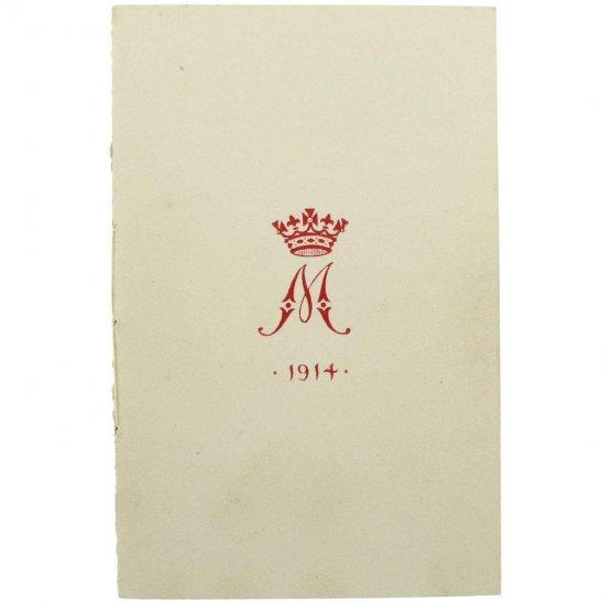 WW1 Princess Mary 1914 Christmas Tin Contents - 1914 Xmas Card