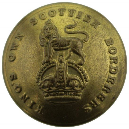 Kings Own Scottish Borderers WW1 Kings Own Scottish Borderers KOSB King's Regiment Tunic Button - 26mm