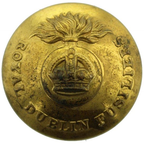 Royal Dublin Fusiliers WW1 Royal Dublin Fusiliers Regiment Irish Tunic Button - 26mm