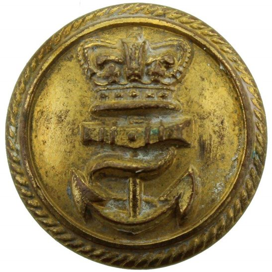 Royal Navy VICTORIAN Royal Navy British SMALL Naval Tunic Button - 20mm