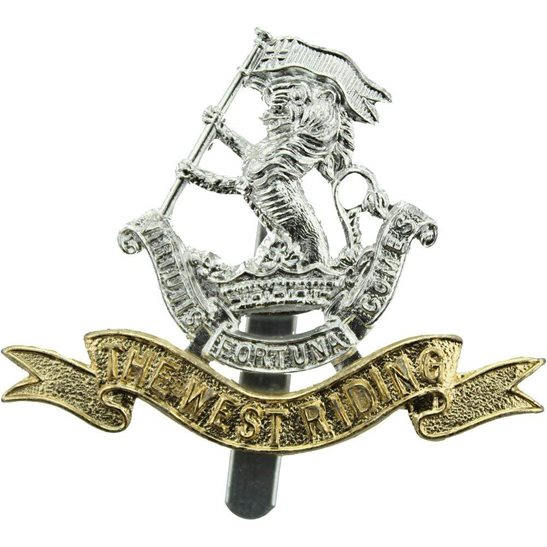 West Riding Duke of Wellingtons West Riding Regiment Staybrite Anodised Cap Badge - Staybright