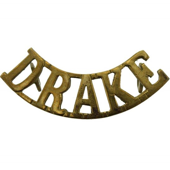 Royal Naval Division WW1 Royal Naval Division RND DRAKE Battalion Navy Shoulder Title