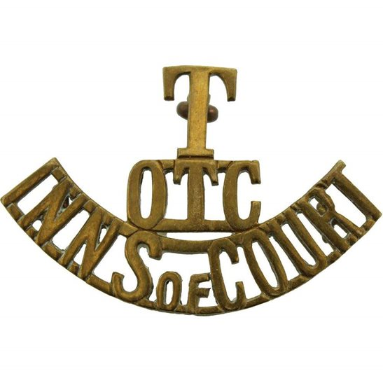 Inns of Court Territorial OTC Inns of Court Regiment Officers Training Corps Shoulder Title