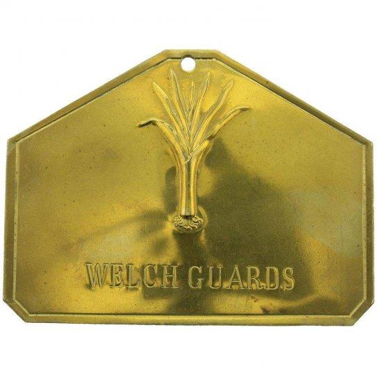 Manchester Regiment Welch Guards Welsh Regiment Brass Bed / Duty Foot Plate