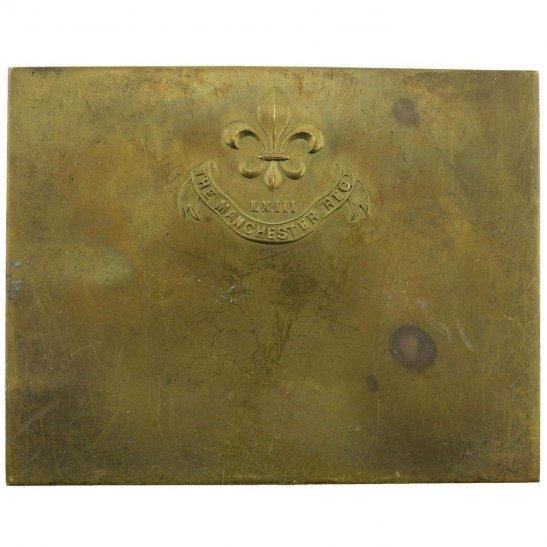 Manchester Regiment Manchester Regiment Brass Bed / Duty Foot Plate