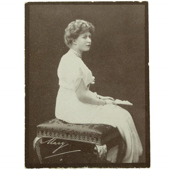 WW1 Princess Mary 1914 Christmas Tin Contents - Mary Photo