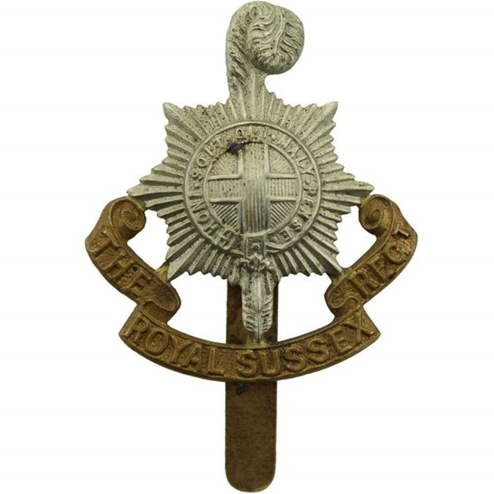 Royal Sussex WW1 Royal Sussex Regiment Cap Badge