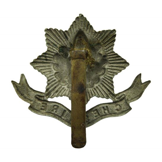 additional image for WW1 Cheshire Regiment Cap Badge - FIRST PATTERN