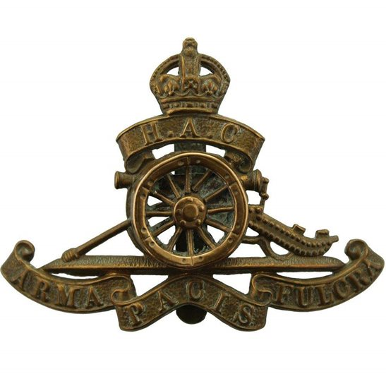 Honourable Artillery Company HAC WW1 Honourable Artillery Company HAC Cap Badge