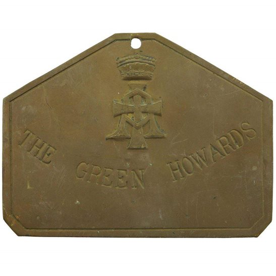 Green Howards (Yorkshire) Green Howards (Yorkshire) Regiment Brass Bed / Duty Foot Plate