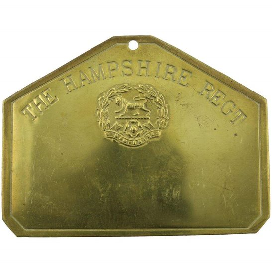 Hampshire Regiment Hampshire Regiment Brass Bed / Duty Foot Plate
