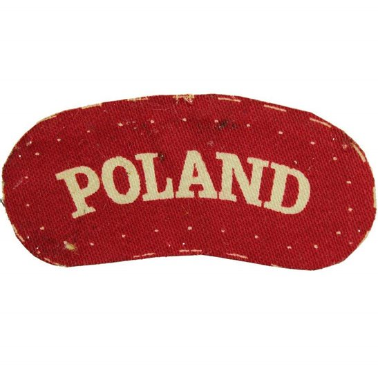 Free Polish Army WW2 Free Polish Forces (Army In Exile) PRINTED Cloth POLAND Shoulder Title Badge Flash