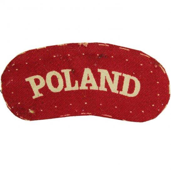 Free Polish Army WW2 Free Polish Forces (Army In Exile) PRINTED Cloth POLAND Shoulder Title Badge Flash