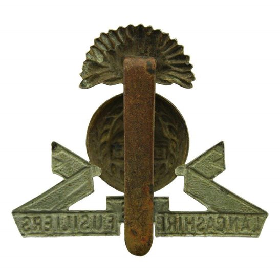 additional image for WW1 Lancashire Fusiliers Regiment Cap Badge
