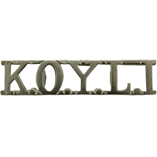 Kings Own Yorkshire Light Infantry KOYLI WW2 Kings Own Yorkshire Light Infantry (KOYLI) King's Shoulder Title