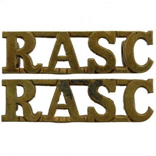 Royal Army Service Corps RASC Royal Army Service Corps RASC Shoulder Title PAIR