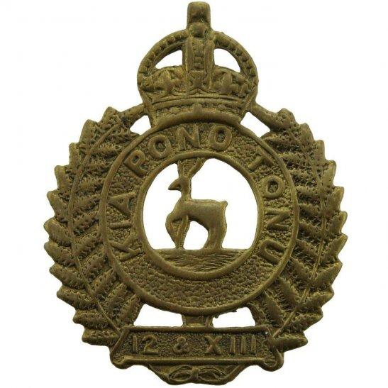 WW1 New Zealand Army WW1 New Zealand Army 12th & 13th Nelson Infantry Regiment Cap Badge