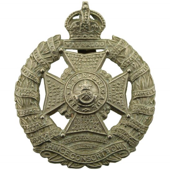 Rifle Brigade WW2 The Rifle Brigade (Prince Consort's Own) Regiment Cap Badge