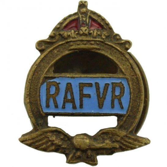 Royal Air Force RAF WW2 Royal Air Force RAF Volunteer Reserve RAFVR Silver Lapel Badge