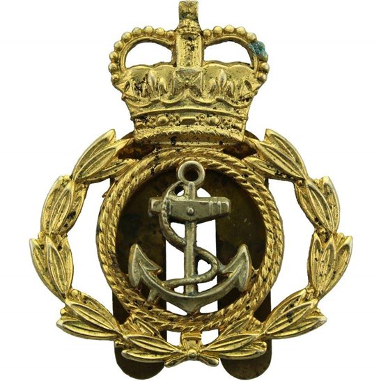 Royal Navy Royal Naval Petty Officers British Navy Cap Badge - Queens Crown