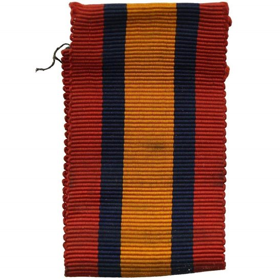 Boer War Spare Queens South Africa QSA Medal SILK Ribbon - 4.5 Inches