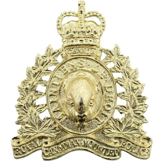 Royal Canadian Mounted Police RCMP Royal Canadian Mounted Police RCMP Staybrite Anodised Cap Badge - Staybright