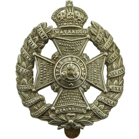 Rifle Brigade WW1 The Rifle Brigade (Prince Consort's Own) Regiment Cap Badge